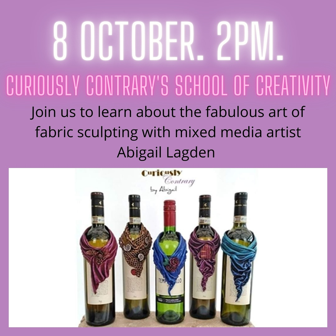 Dont forget to book your ticket to tomorrows online demo by Curiously Contrary either via office.swfwi@gmail.com or using Eventbrite. Everyone is welcome 💚 #swfwi #thewi #wionline #fabricsculpture #mixedmediaartist #art #craft #curiouslycontrary #abigaillagdenartist
