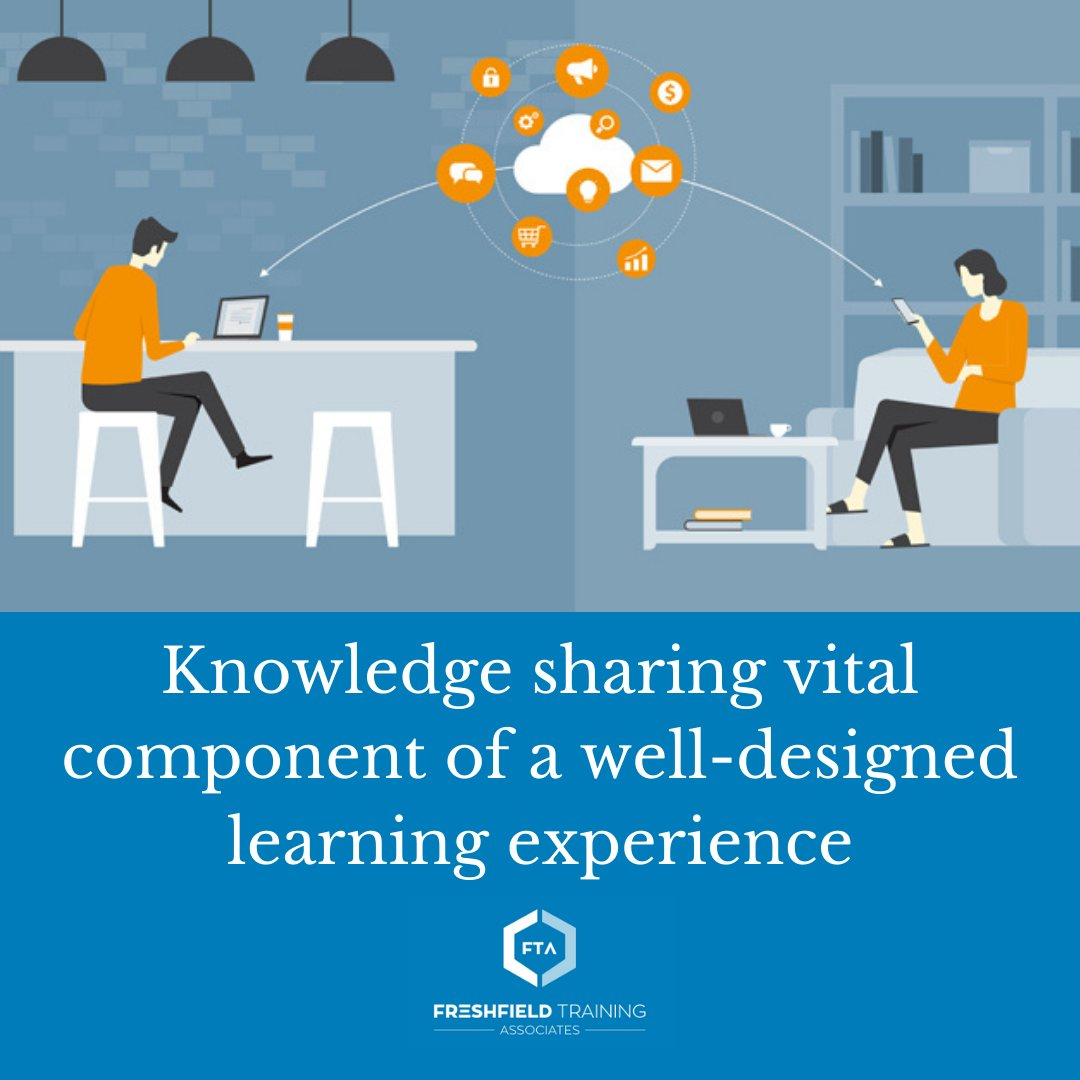 A well-designed learning experience should include the opportunity to share and gain knowledge from colleagues, even when they are geographically dispersed.  Read more: https://t.co/TNlRWYEu5x https://t.co/FXOssIU5xl
