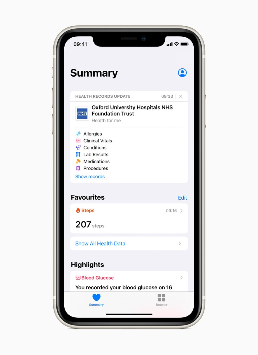 Exciting news. OUH patients can now choose to access Health Records on iPhone – a simple and secure way to put our patients at the centre of their care.  ▶