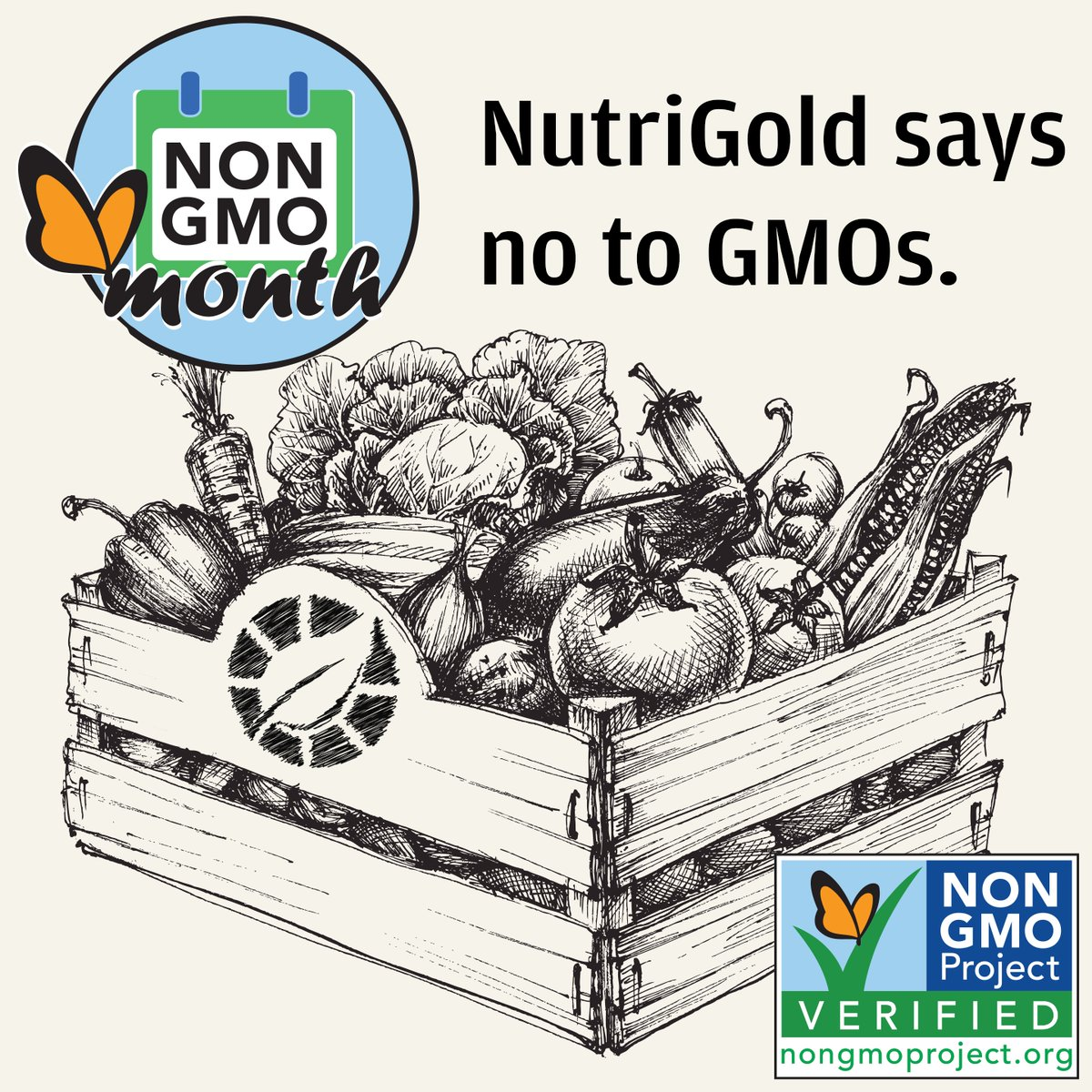Happy Non-GMO Month! 100% of NutriGold products are verified non-GMO either through the Non-GMO Project­™ or through a combination of supply chain verification and real-time, qualitative and quantitative PCR testing. https://t.co/QnZgNUm9Kt