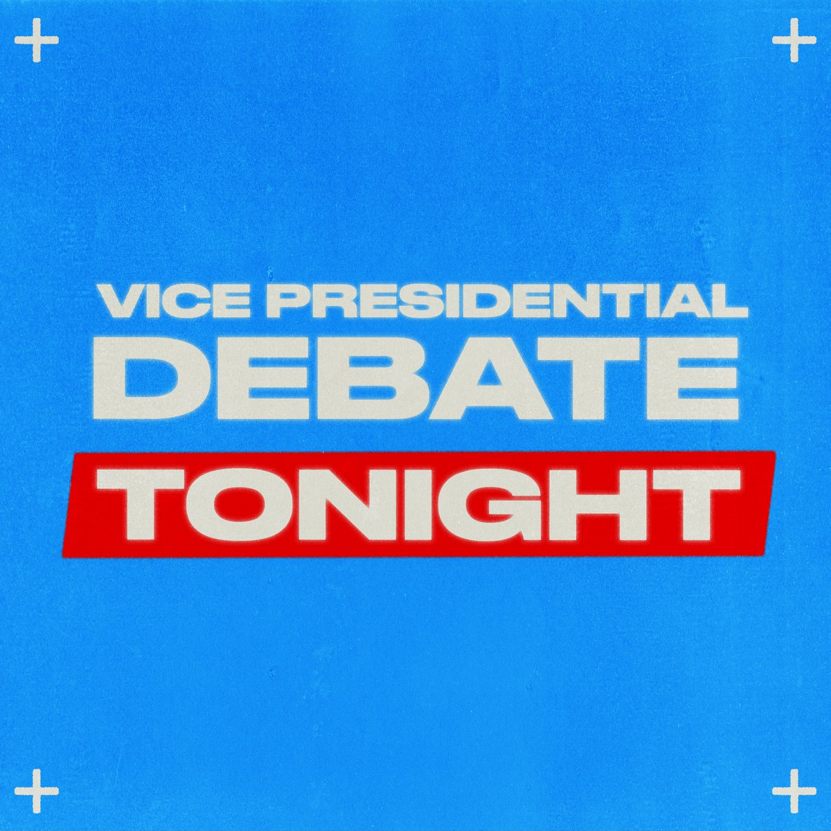 The Vice Presidential Debate is happening TONIGHT at 9pm ET!