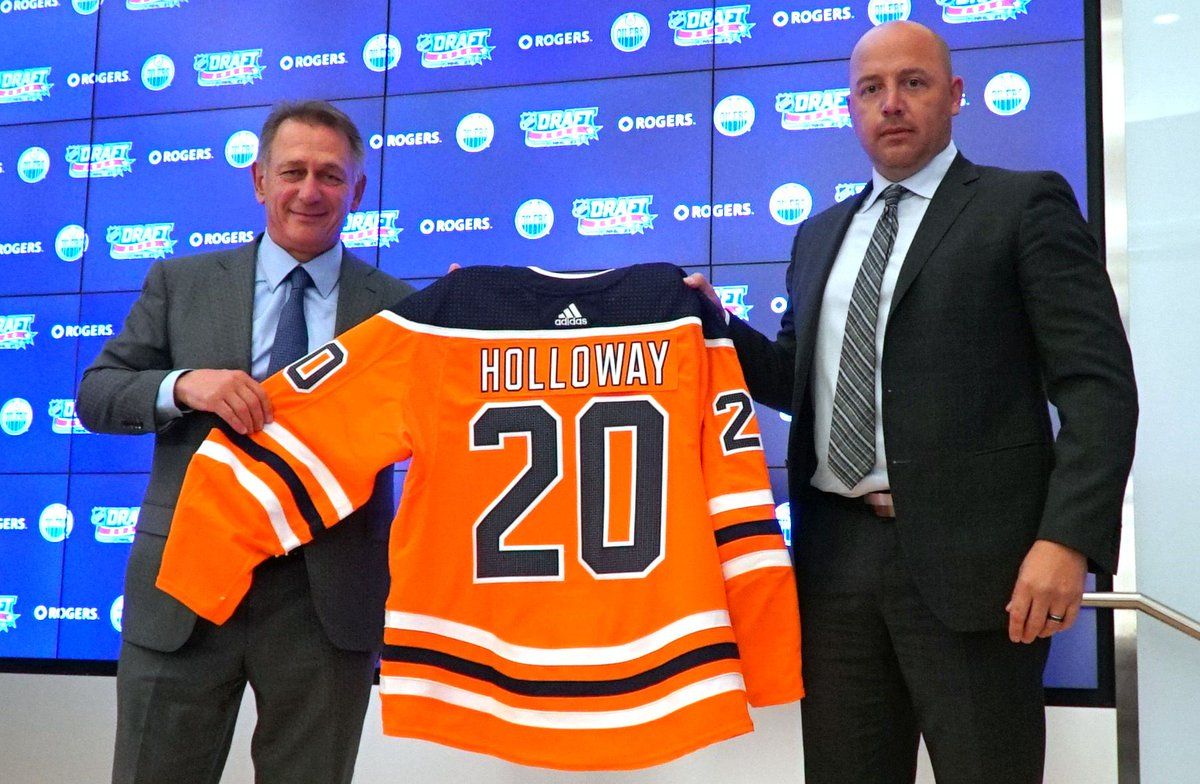 Wisconsin #Badgers in the NHL: Dylan Holloway selected No. 14 by the Edmonton Oilers  The @BadgerMHockey sophomore will be returning home once his pro playing days begin.  #ProBadgers #BadgersInTheNHL