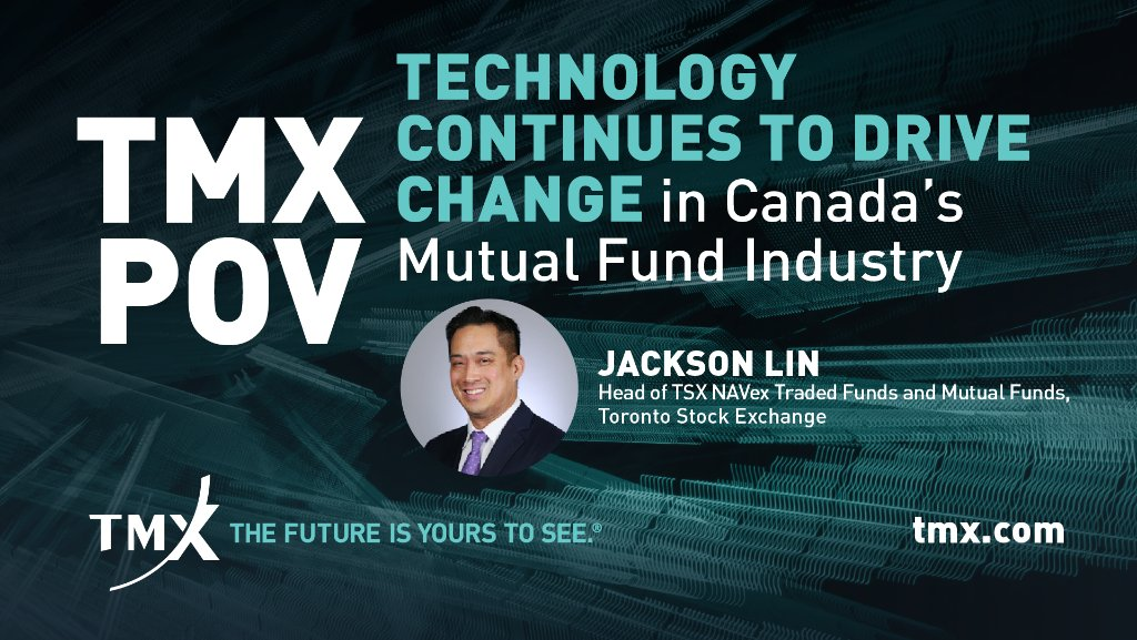 TSX NAVex is advancing Canada's mutual fund industry—and fund providers are taking notice.  Read the #TMXPOV by Jackson Lin, Head of NAVex, to learn how the platform is driving change: https://t.co/DsoOEapg1z #mutualfunds #capitalmarkets https://t.co/2oNXf0kSOF