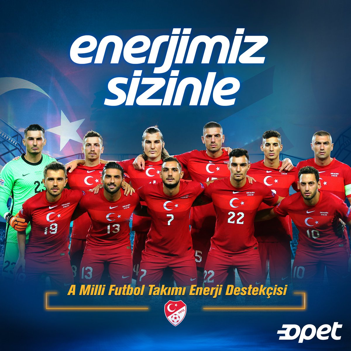 A Milli Futbol Takımımızın Enerji Destekçisi olarak hazırlık maçında Almanya ile 26. kez karşılaşacak olan millilerimize başarılar dileriz. https://t.co/erHCcfcosW