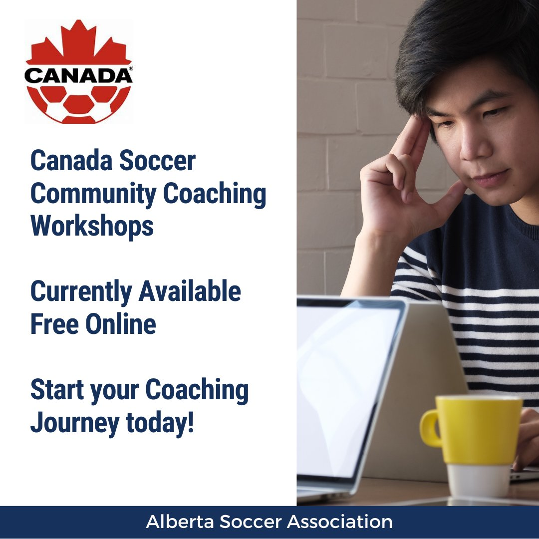 Haven't had a chance to sign up yet? Canada Soccer Community Coaching workshops are still available for FREE.  Whether your coaching U4 or adults there is a NCCP workshop for you.  To register go to: https://t.co/OLJfbFcuzs https://t.co/hT3knOLFsC