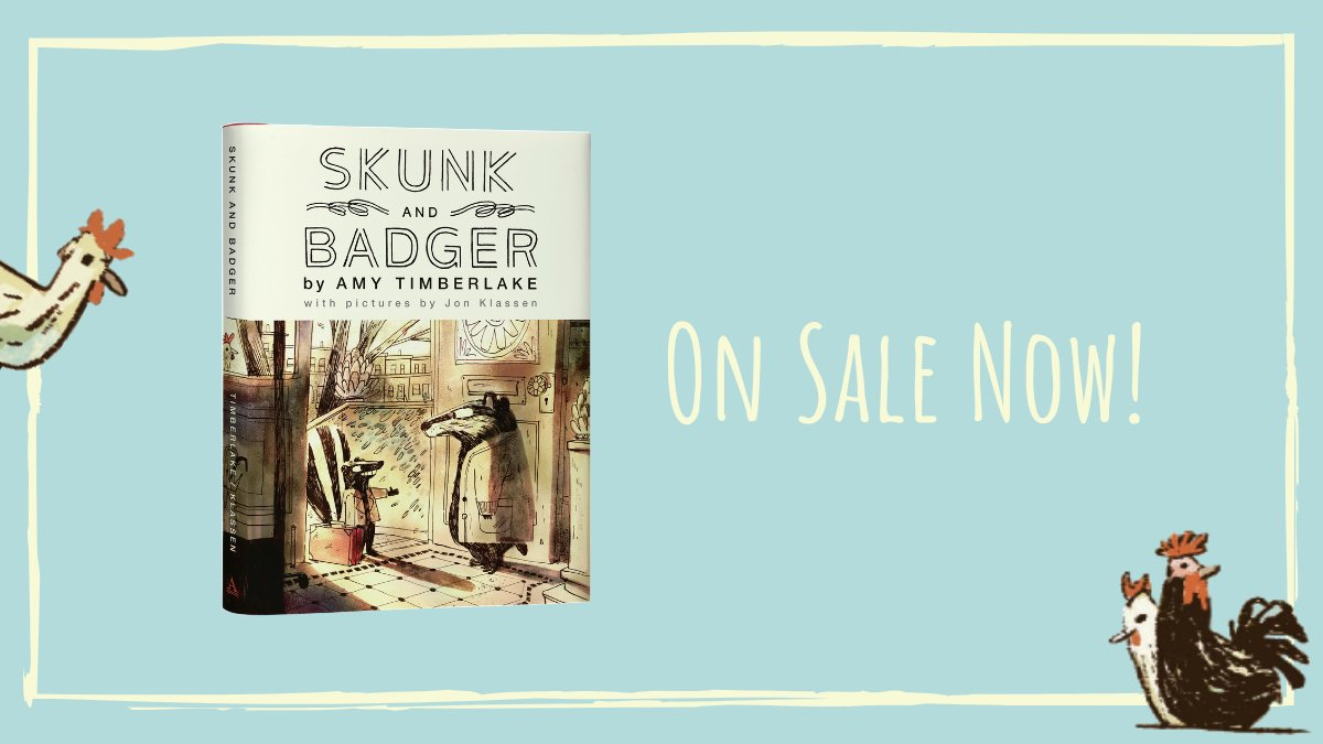 """Like George and Martha and Frog and Toad, Skunk and Badger feel like literary friends with many pages of stories to tell."" -@NYJournalofBook on SKUNK AND BADGER by @amytimberlake with pictures by @burstofbeaden Read more here: ow.ly/rAHl50BMf3p"