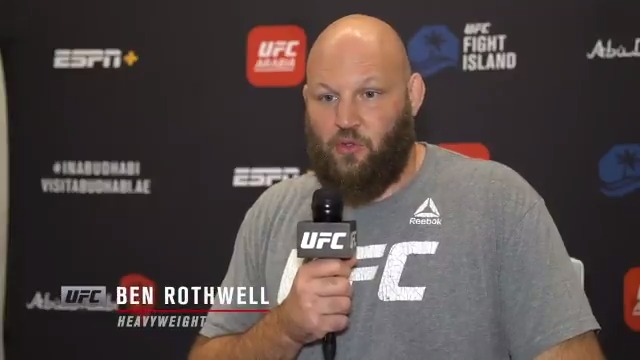 """""""It's just getting your mind right and having the mentality to pull the trigger as they say. I think great things will happen if I go out and just show my best."""" - @RothwellFighter talks about where his mind is at heading into #UFCVegas5 🔊⬆️  #InAbuDhabi 