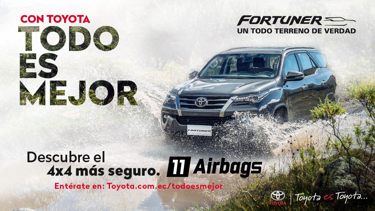 ¿Sabías qué #ConToyotaTodoEsMejor?  Recorre nuevas aventuras 4x4 con total seguridad junto a Fortuner. Sus 11 airbags distribuidos en todo el vehículo lo hacen el SUV más seguro en su categoría. https://t.co/eK9mHbvDZQ