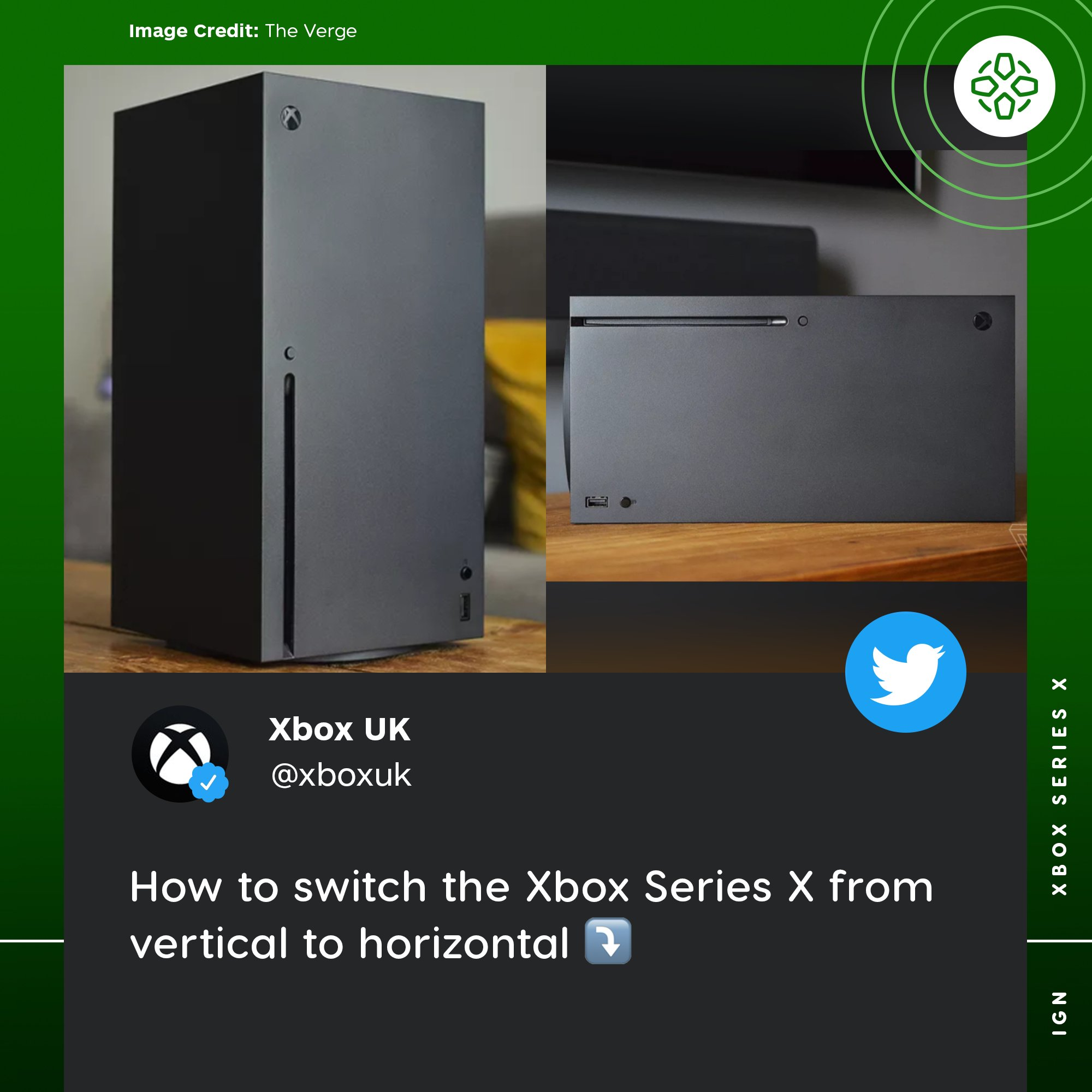 Ign On Twitter The Xbox Uk Twitter Account Took A Playful Jab At Ps5 S Slightly More Complicated Process To Go From Vertical To Horizontal Https T Co Rcggaahbbr Https T Co Ku3nxswxs7