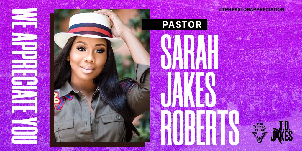 Today, we celebrate Pastor @SJakesRoberts for her faithful leadership at @TPHOneLA and @TPHDenver. Thank you for leading with humility and igniting purpose in us just by authentically living your life. We love and appreciate all that you do! #TPHPastorAppreciation