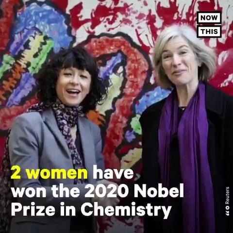 Two women, Emmanuelle Charpentier and Jennifer A. Doudna, just won the 2020 #NobelPrize in Chemistry for their work on the genome-editing tool CRISPR. This is the first time women scientists have won the award without a male collaborator