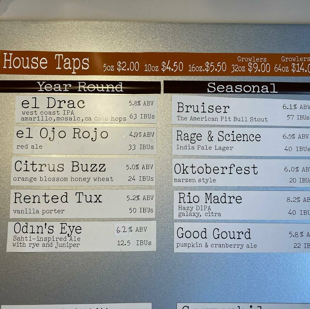 I'm so happy to have 10(!) beers back on tap at @thirstyeyebrew. So many delicious flavors to choose from including our Hazy DIPA for NMIPAC, Oktoberfest, and pumpkin+cranberry ale. https://t.co/rVRz1rHGpA