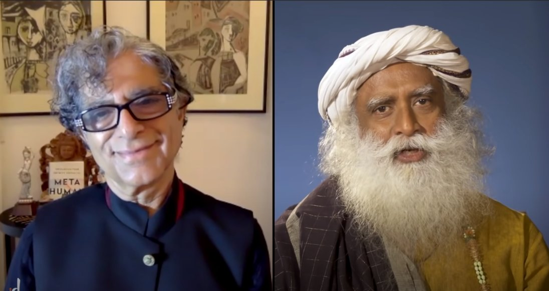 """""""Somos el despertar de la consciencia bacteriana y viral"""", dice Deepak Chopra a Sadhguru"""