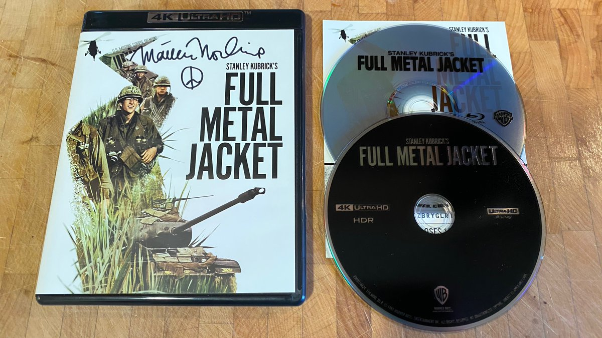 RETWEET by 10/13 for a chance to win this signed copy of #FullMetalJacket on 4K Ultra HD + Blu-ray! I'll pick one winner and announce on 10/14. Thanks and good luck! https://t.co/24gEbAGctC