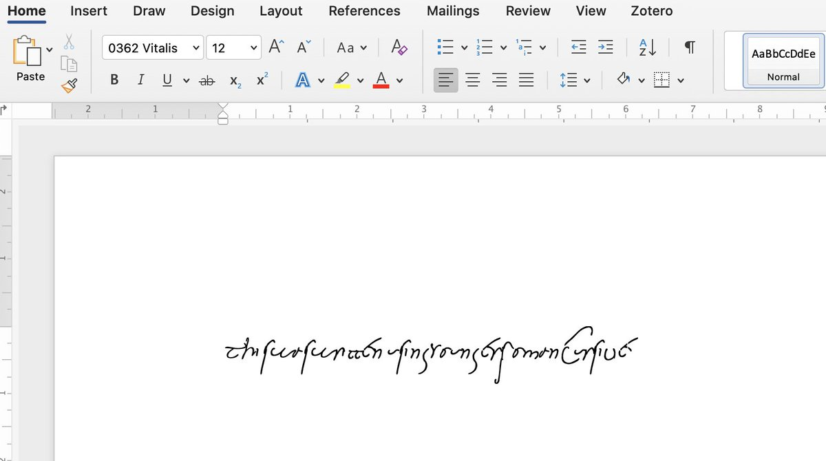 SO there's a website out there which has converted actual manuscript handwriting into fonts.  Want to write your thesis or book using Younger Roman Cursive? YOU NOW CAN.  Download them here: https://t.co/qpFH1HNwFu https://t.co/ApCnPgnN5N