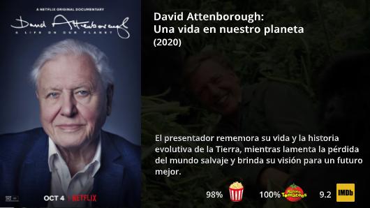 Netflix Novedades On Twitter David Attenborough Una Vida En Nuestro Planeta 2020 El Narrador Ganador Del Emmy David Attenborough Nuestro Planeta Planeta Tierra Ii Mira Al Pasado Y Plantea El Futuro
