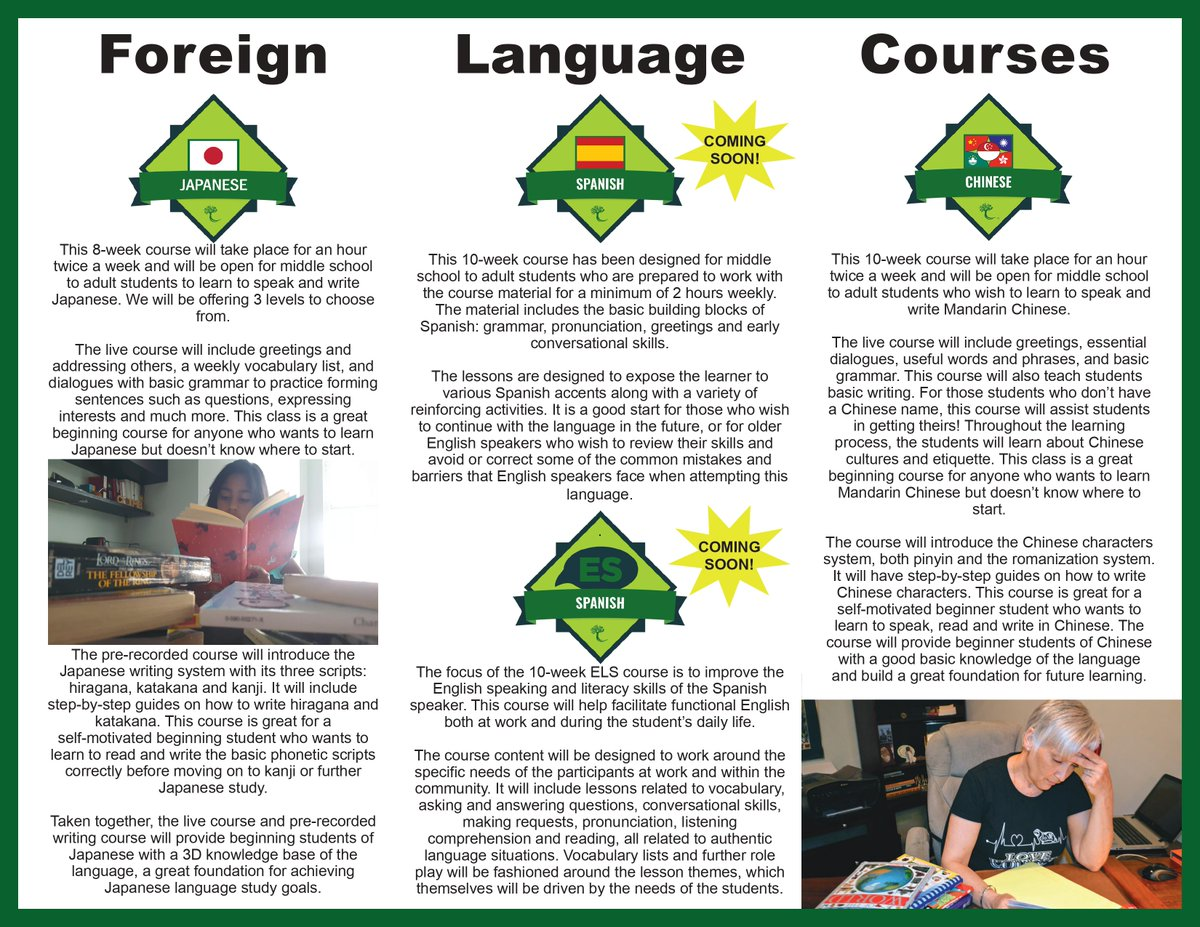 NHEG Courses  https://t.co/JsCPEXve1B  #svhs #siliconvalleyhighschool #courses #Japanese #Spanish #Chinese #music #foreignlanguage #onlinelearning #students #parents #teachers #kids #children #education #homeschooling #classroom #school #reading #literacy #writing #brochure #nheg https://t.co/wuy4IOe8Se