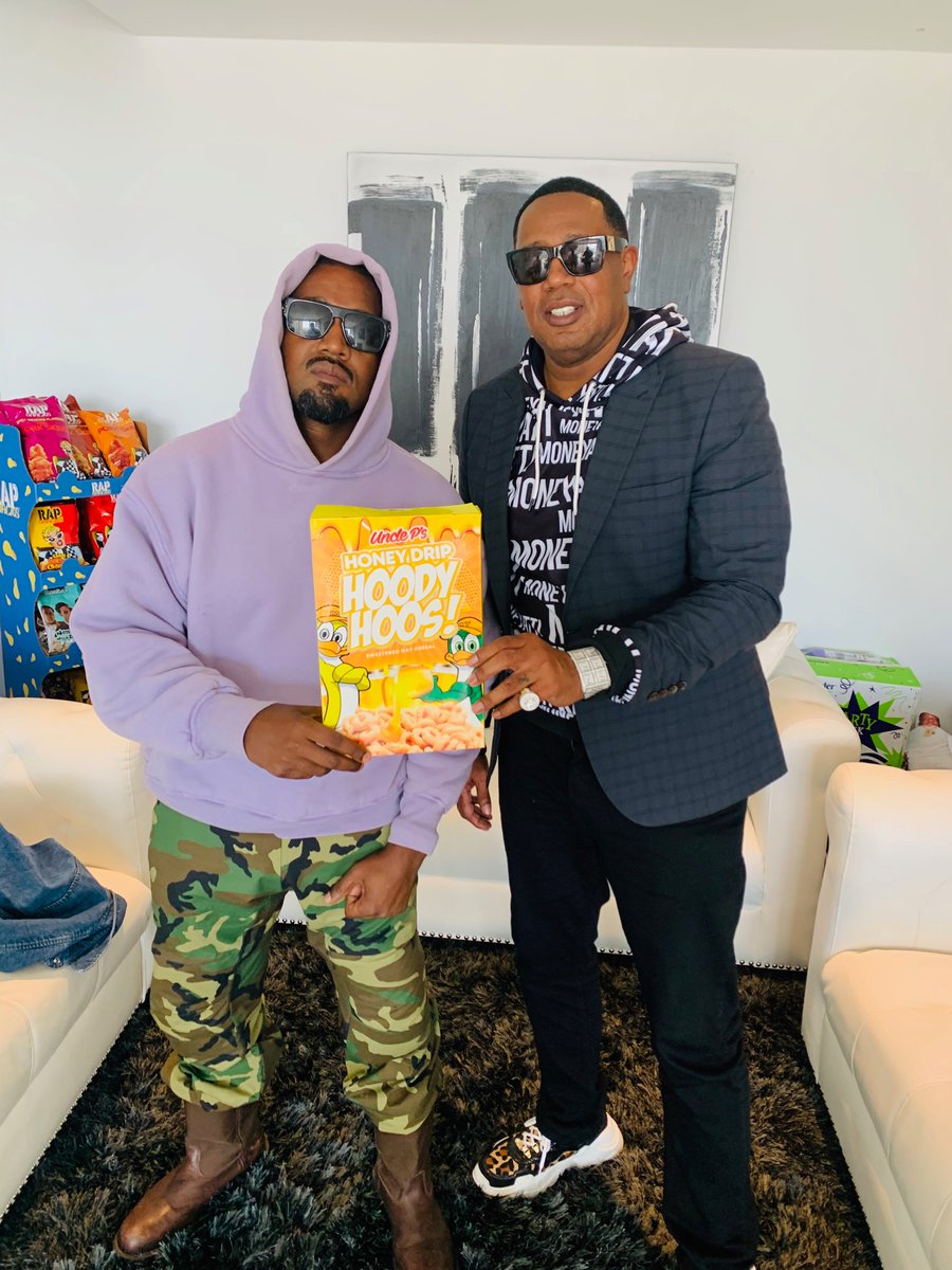 Hoody Hoos!! We went from Hip Hop to creating and Selling our own Products! @unclepcereal We changing the Game. Salute all the Visionary's They Can't Stop Us! @kanyewest  #GodIsReal #OwnerShip