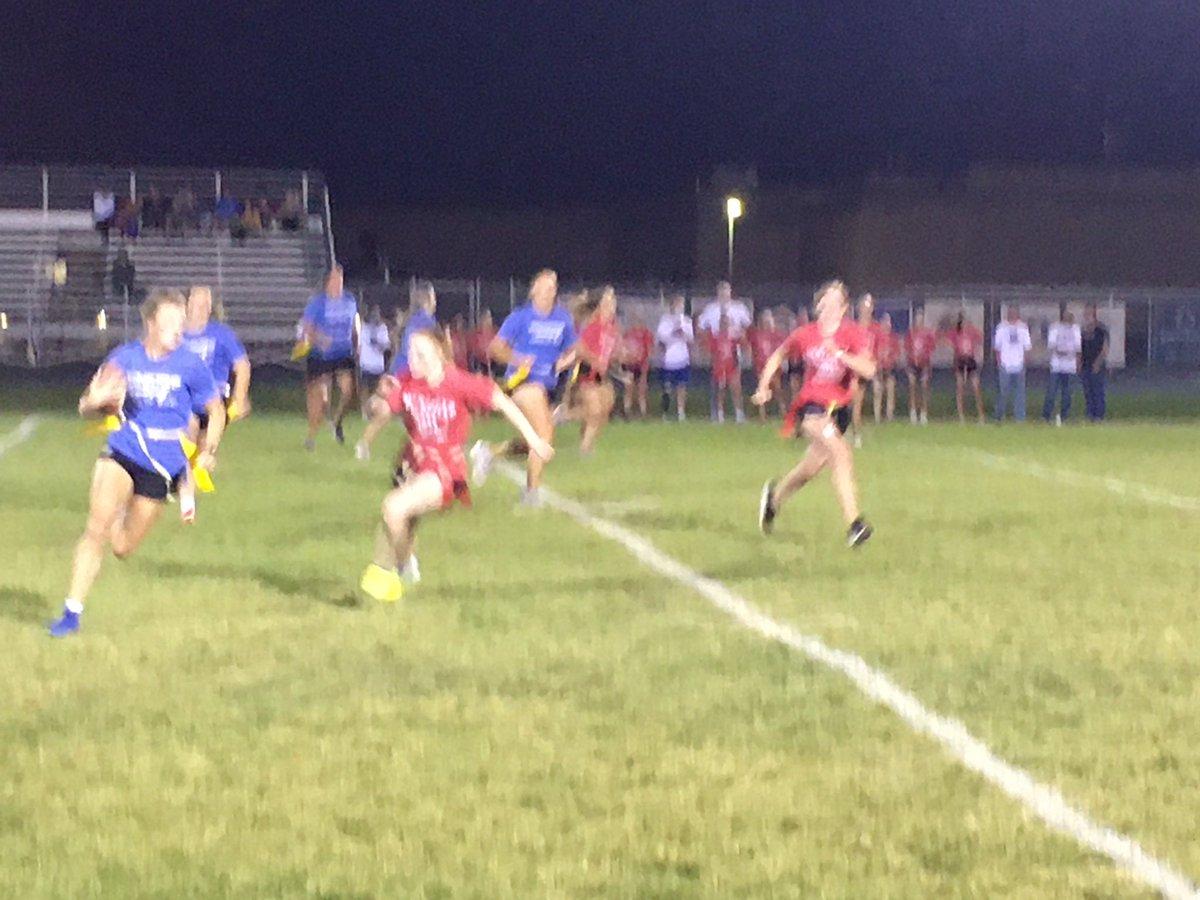 RHS powderpuff flag football 🏈 game Juniors vs. Seniors