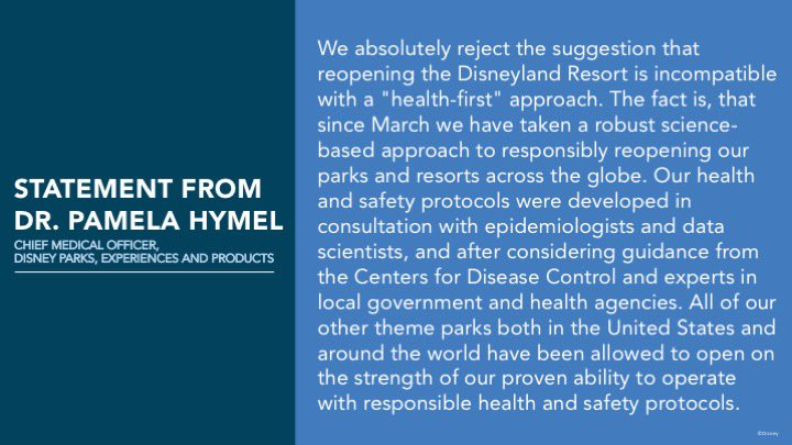 disney statement from pamela hymel
