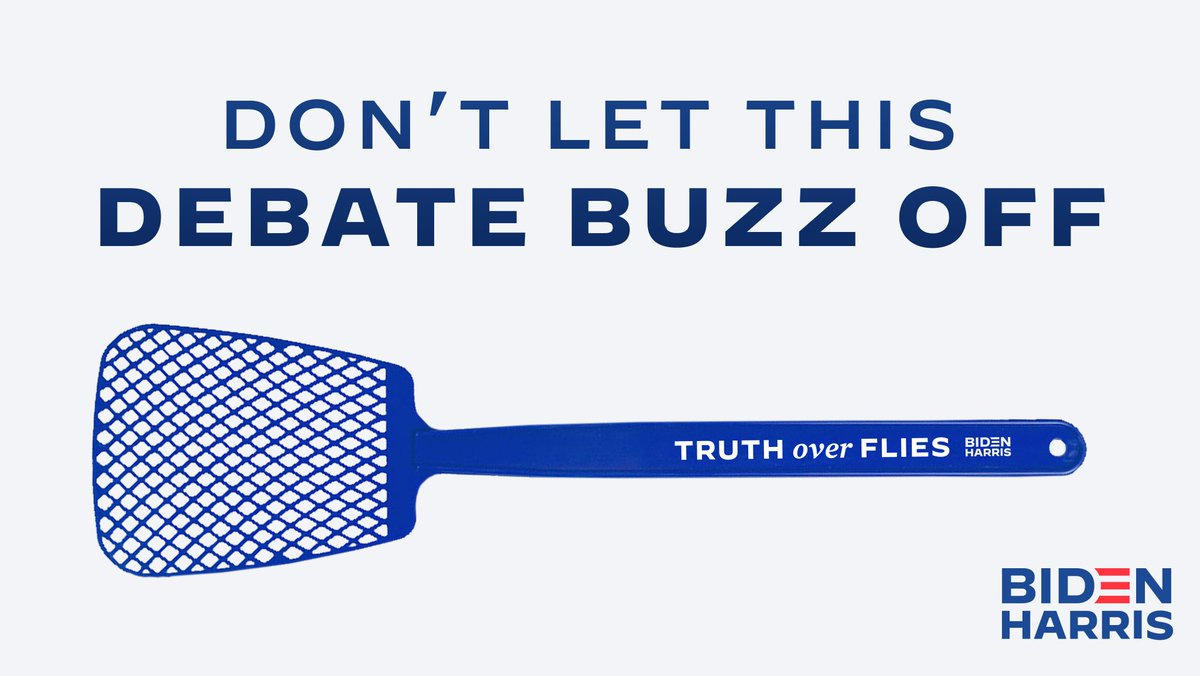 Replying to @TeamJoe: Swats away flies and lies. Get yours today: