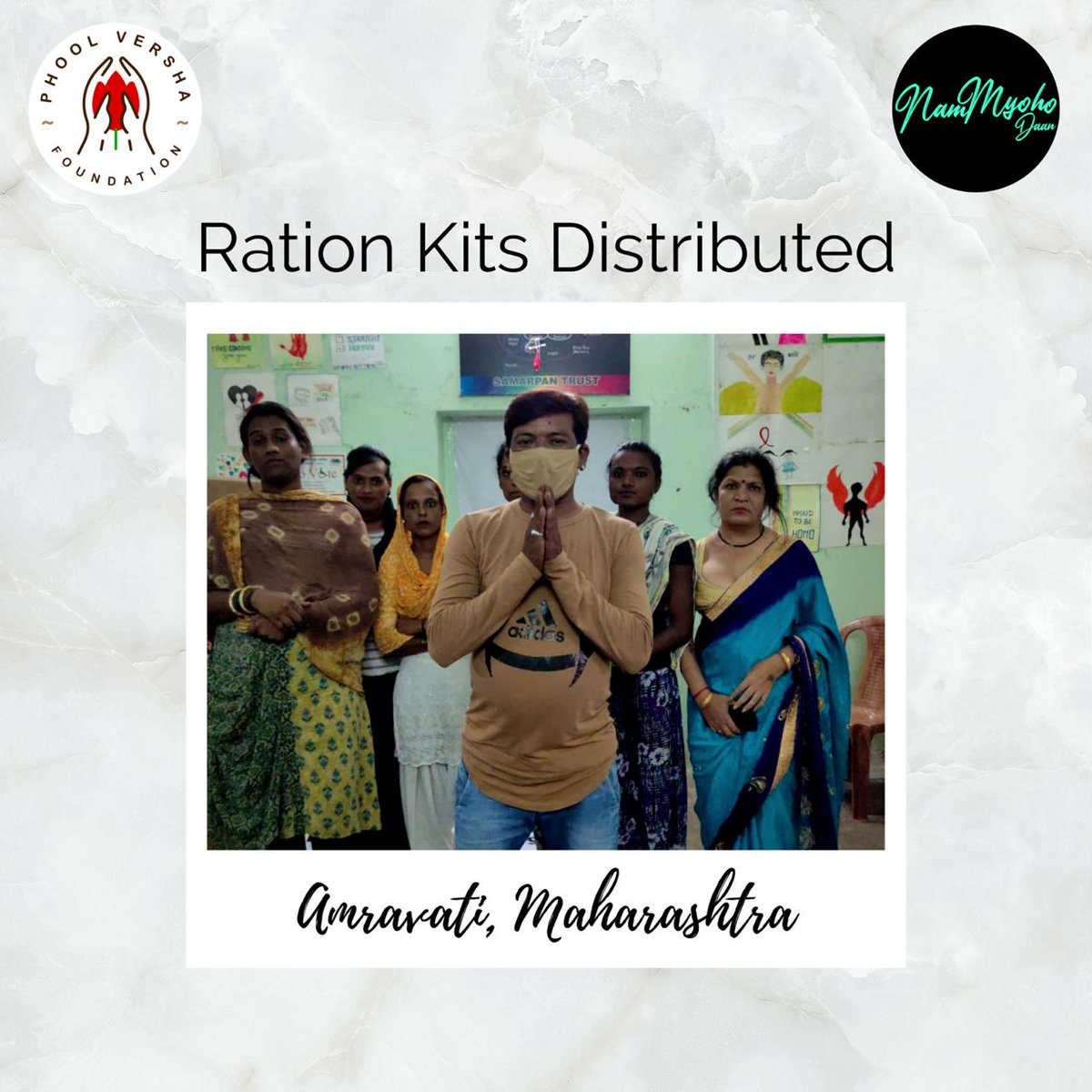 Covid exists and so does hunger!! The transgender community is one of the most severely affected communities by the Covid crisis. We conducted a ration drive for them in Amravati, Maharashtra to fulfill their needs and requirements. Help us eradicate hunger!! Donate now.