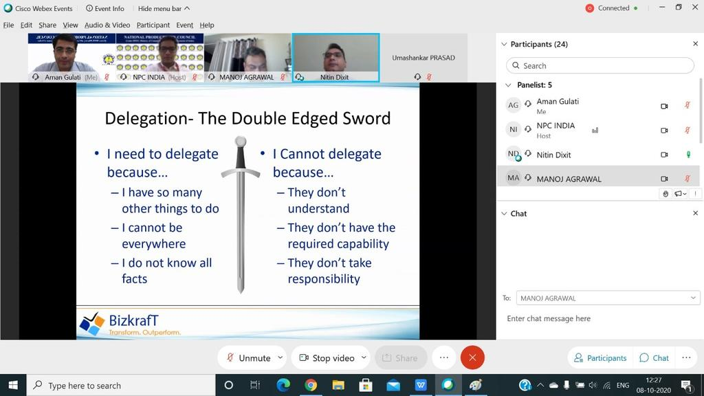 Engage, Empower & Enable are critical areas to develop in any #organisation to increase #people #productivity. Our expert emphasised the importance of this approach during our ongoing webinar @NPC_INDIA_GOV @HAL_India @FISME @gailindia @SAILsteel @beeindiadigital @EESL_India https://t.co/syyDUnH41f