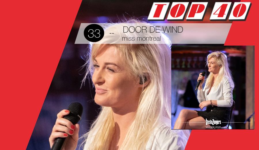 ⚫3️⃣3️⃣🆕 Door De Wind is de 15e Top 40-hit voor @MissMontreal en de vijfde in het Nederlands > https://t.co/KqwpCQMO15 https://t.co/8xEAYi1wvY