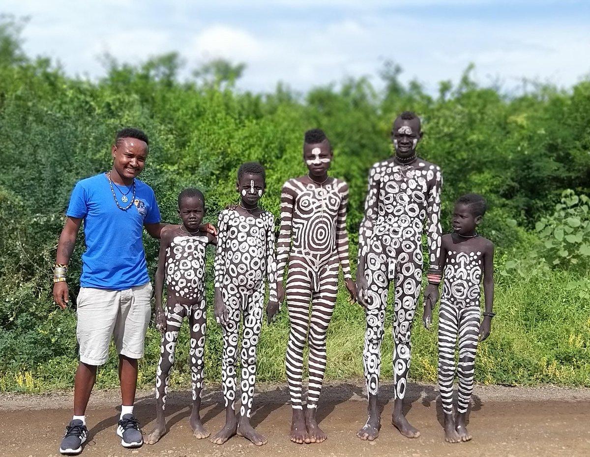 Mursi tribe young boys with body painting Omo Valley Ethiopia!  🌐 https://t.co/FtUvaTRt9G  #Ethiopia #OmoValley  #mamaruethiopiantours #mamarulocalguide #omovalleytribes #omovalleytour #omovalleylocalguide #africa  #travelafrica #travelethiopia  #mursi #mursitribe #mursitribes https://t.co/xH1QsRogaM