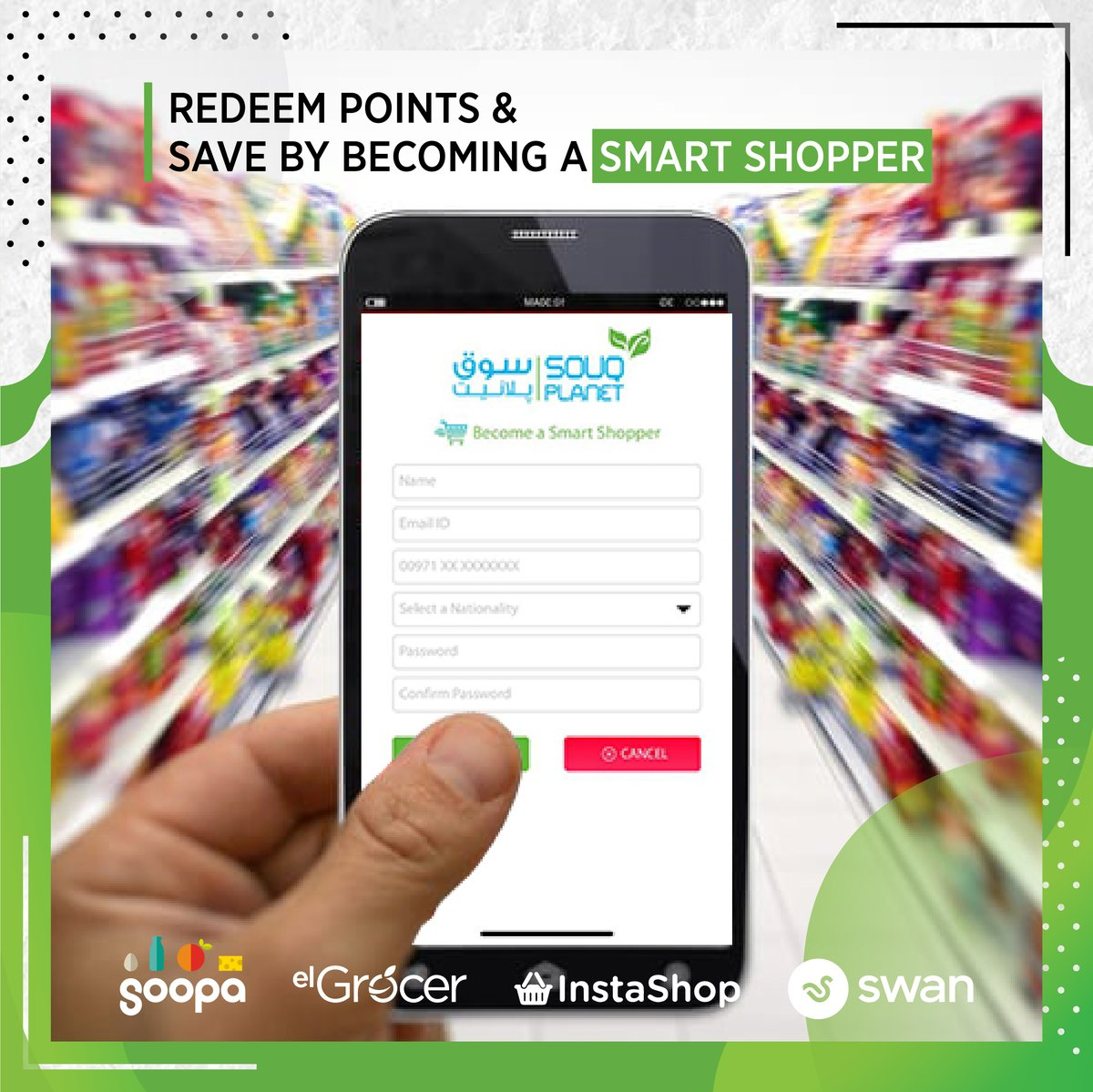 Gain and redeem points by signing up to be a #souqplanet Smart Shopper💚  Download our application today!  #souqplanet #smartshopper #onlineshopping #groceryshopping #inabudhabi #dubai #alain #uae #vegan #madinatzayed #safeplanet #stayhome #socialdistancing https://t.co/0vDledlEZX