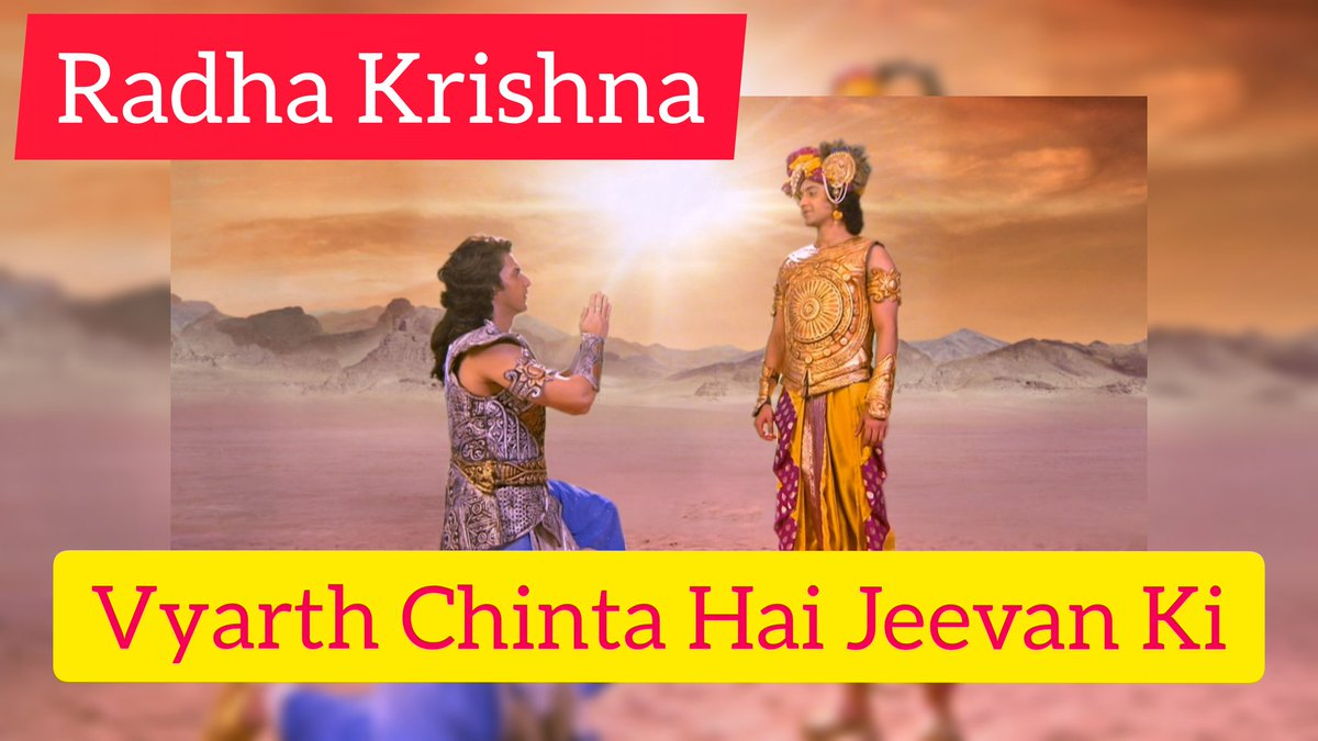 'Vyarth Chinta Hai Jeevan Ki  Vyarth Hai Mrityu Ka Bhay Aatma Ko Na Maar Patey Shastra Agni Ya Samay' So powerful & true lines! watch #GitaBani sung by #SoulstarRohit  in today's episode of #radhakrishna #SwastikProductions #starbharat @ 9.00 PM Subscribe to my #youtubechannel https://t.co/IiqdBxMVeH