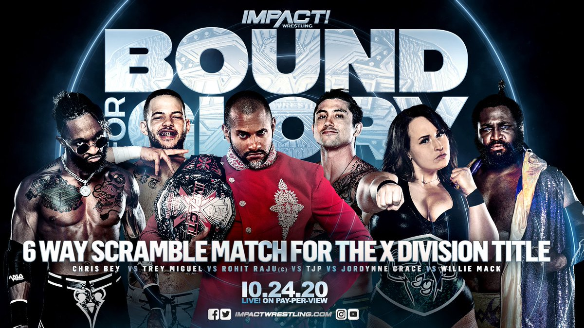 "Impact Wrestling Announces A Six-Way Scramble Match For X-Division Title At ""Bound For Glory"""