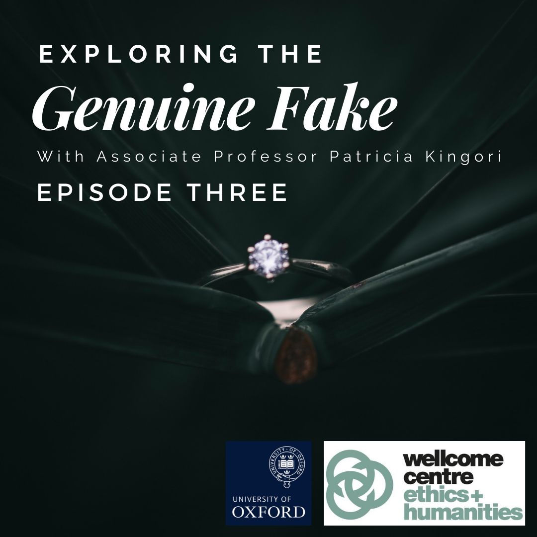 Check out episode 3 of #ExploringTheGenuineFake with Associate Professor Patricia Kingori - this one's a real gem!  Explore the real and fake in the context of the diamond business, medicines and the art world  Listen 👉 https://t.co/q2uuBj2jVG  @WEH_Oxford https://t.co/l8fbvjO7As