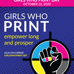 Image for the Tweet beginning: It's #GirlsWhoPrint day! This super-sized