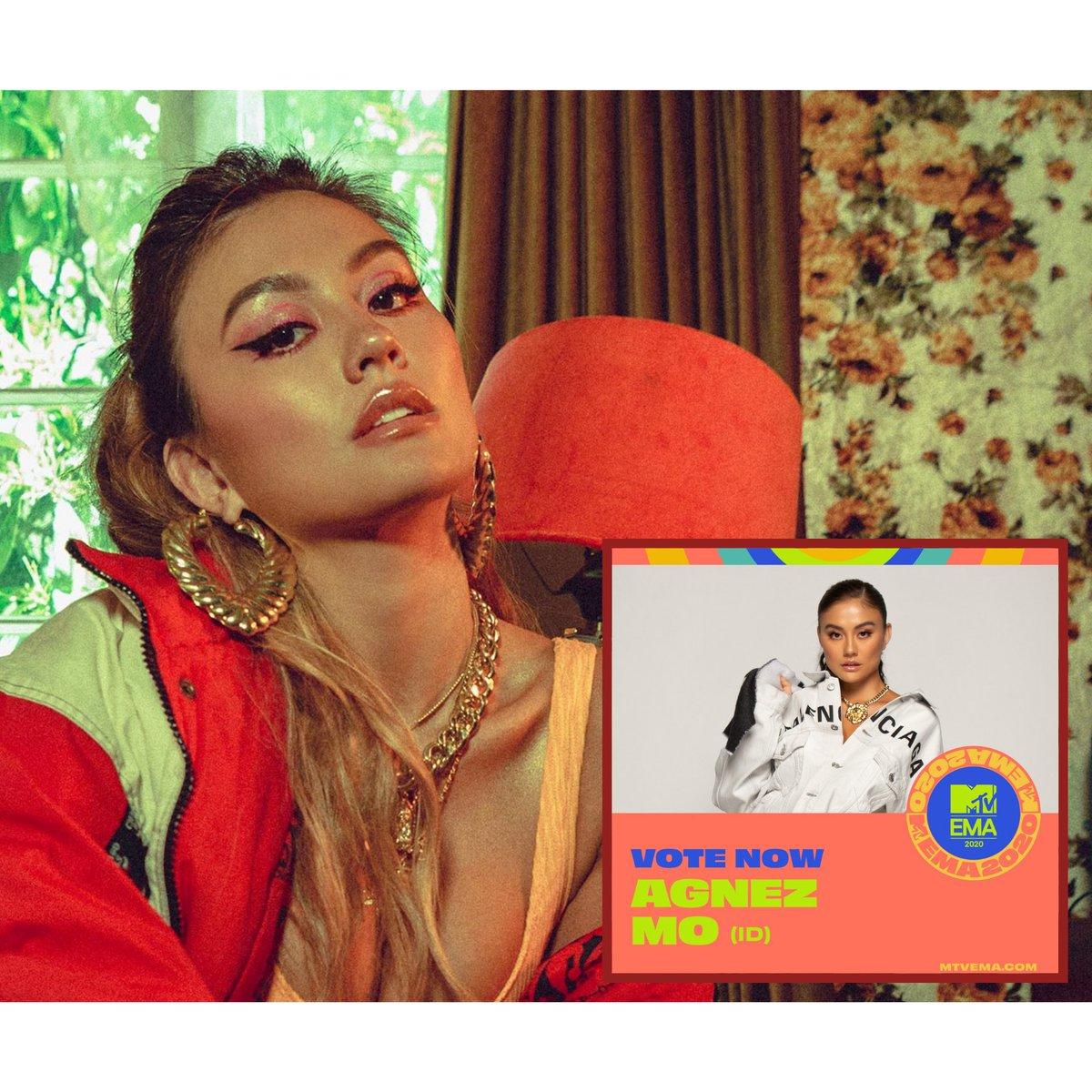 """#HRFMNews Look who's nominated at the MTV EMA 2020 on """"Best Southeast Asia Act"""" category!  MTV EMA 2020 mengumumkan nominasinya! Bersaing dengan musisi dari Singapura, Vietnam, Filipina, Malaysia, dan Thailand, @agnezmo terpilih sebagai musisi yang merepresentasikan Indonesia"""