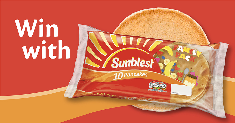 Treat yourself with 1 of 4 £100 Gift Cards courtesy of our friends at Sunblest.  Did you know Sunblest Pancakes 10 Pack are just £1.39 at SPAR, pick up a pack in store today!  T&C's Apply (https://t.co/j9RQ2FbiRS)  Competition closes 01/11/20 https://t.co/QLmWYhddFY