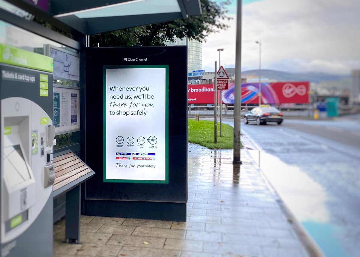 Staying safe while we shop is extra important at the minute, so this message is reassuring. Knowing your local store is safe and welcoming is a relief to many. Adshel Live allowed us to deliver this reactive campaign quickly to meet the client brief. #BeMoreNow #DOOH https://t.co/QOTTwHDyxd