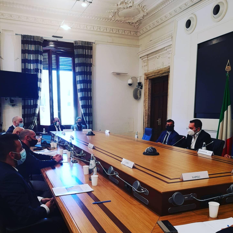 Ieri incontro tra il ministro Vincenzo Spadafora, Carlo Sibillia e gli ultras del basket