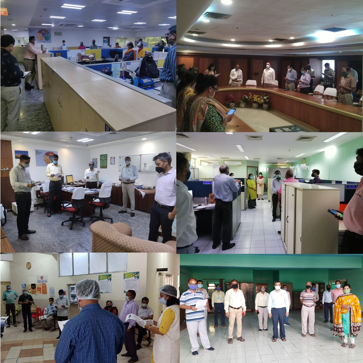 #BHEL's Delhi/NCR based employees reiterating their commitment to the war against Covid-19 by way of a Pledge as part of 'Jan Andolan for Covid-19 Appropriate Behaviour' campaign @heindustry @PrakashJavdekar @arjunrammeghwal @PIB_India #JanAndolan #UnitetofightCorona https://t.co/jhaSitFRXN