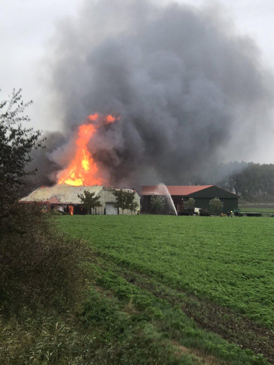 Melding grote brand Oud-Vossemeer