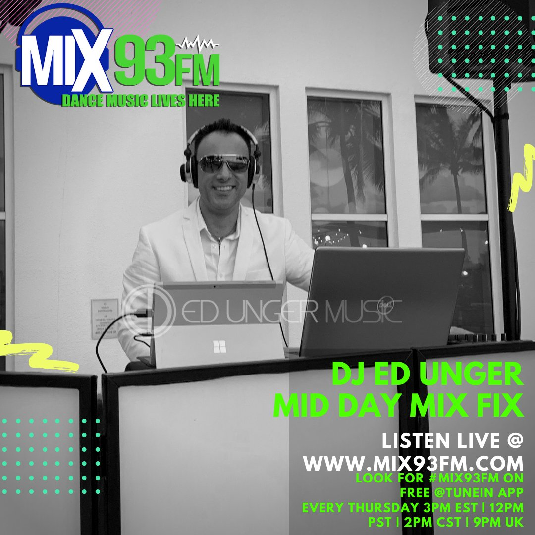 On Air In the Mix Today https://t.co/y6AkjvBZMh at 3pm EST, 12pm PST, 2pm CST, 9pm UK also use the @tunein app from anywhere around the Globe.   #InTHeMix #NowPlaying #BdsRadio #DanceRadio #OnAir #LosAngeles #Mix93fm https://t.co/wlPhnfk5Vi