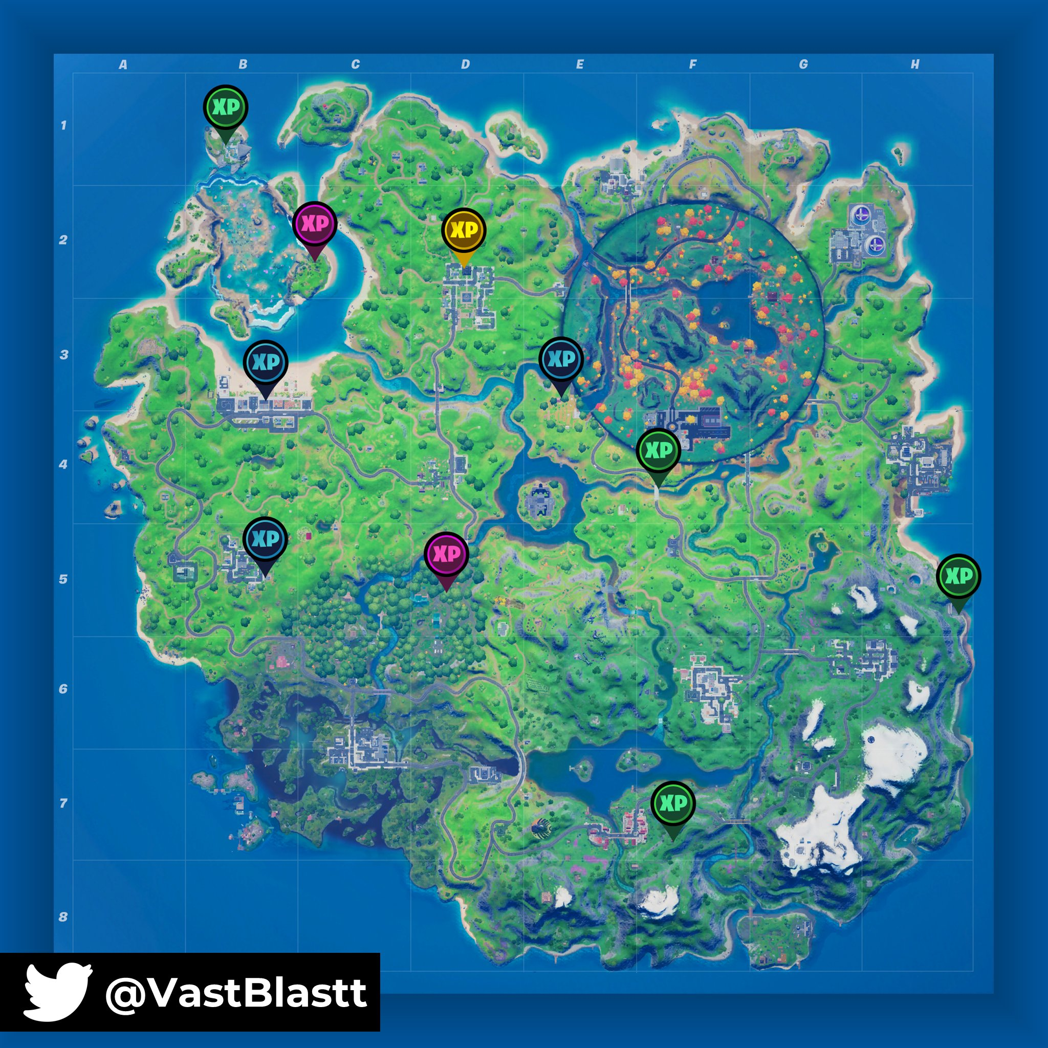 Fortnite Chapter 2 Season 4 Week 7 Xp Coin Locations And Guide