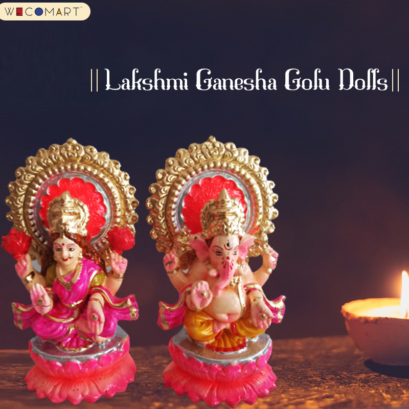Goddess Lakshmi is the Goddess of all wealth, money and fortune. Lord Ganesha is considered God of wisdom, intellect, success and prosperity. Shop at https://t.co/uCN1CwEQBE . #wecomart #dusara #navratri #navaratri #Ganesha #Lakshmi #mahavishnu #golu #goludolls #festival https://t.co/bqkwyijHll