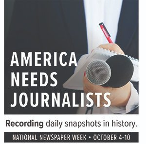 WHY WE NEED JOURNALISTS: Recording daily snapshots in history. Reporting the good, bad, interesting and unusual, journalists provide daily documentation to shape our future.#AmericaNeedsJournalists #NationalNewspaperWeek  https://t.co/eagawYjagD https://t.co/F0KOOqLh24