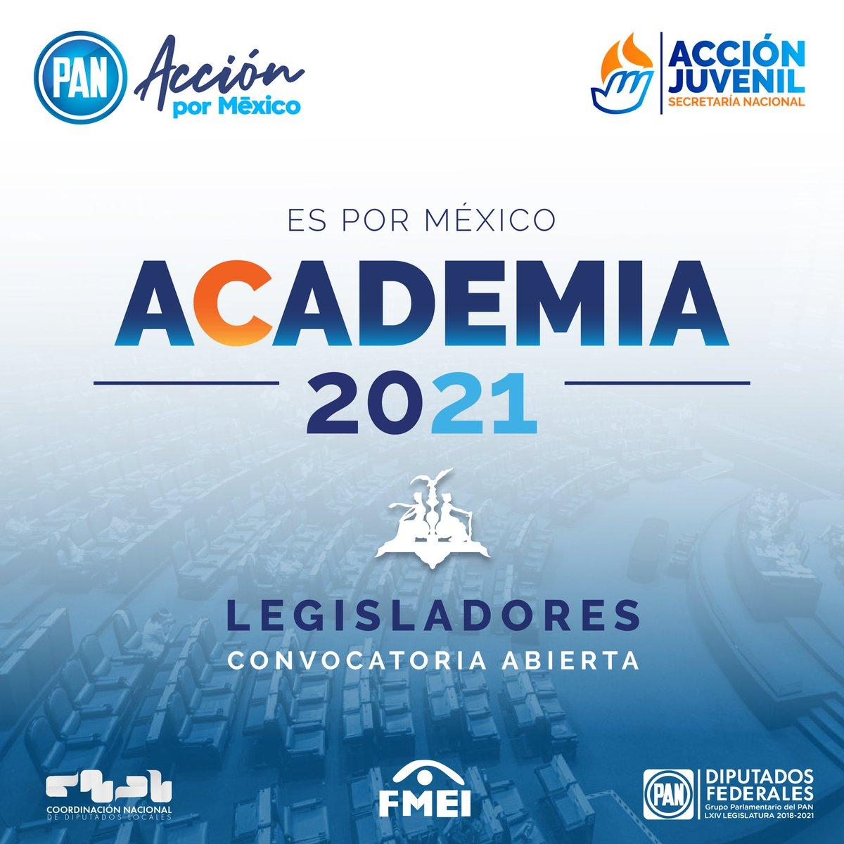 ¿Quieres ser diputado del PAN🔵 en 2021?   #AcciónJuvenil, @diputadospan🙋♀️🙋♂️, la Coordinación Nacional de Diputados Locales y la Fundación Miguel Estrada Iturbide te invita a participar en la Academia 2021.  Convocatoria📲 https://t.co/l2TGCRey5C https://t.co/i2TAyBJavK