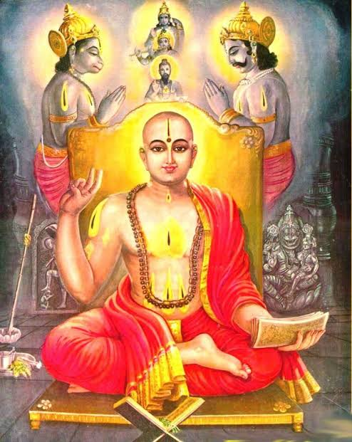 he pervades all, he is inside as well as outside of this world. Dwaita interpretation- He strikes fear in others yet he is fearless himself, as he is omnipresent, he is far as well as near also inside as well as outside.