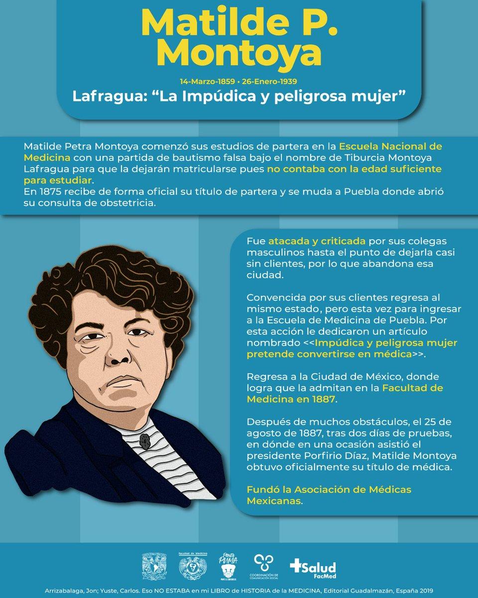 Aunque fue llamada impúdica y peligrosa, Matilde Montoya se convirtió en la primera médica de México en agosto de 1887. #DíaDelMédico 👩⚕️👨⚕️💝 https://t.co/qjtyQkQ1Hb