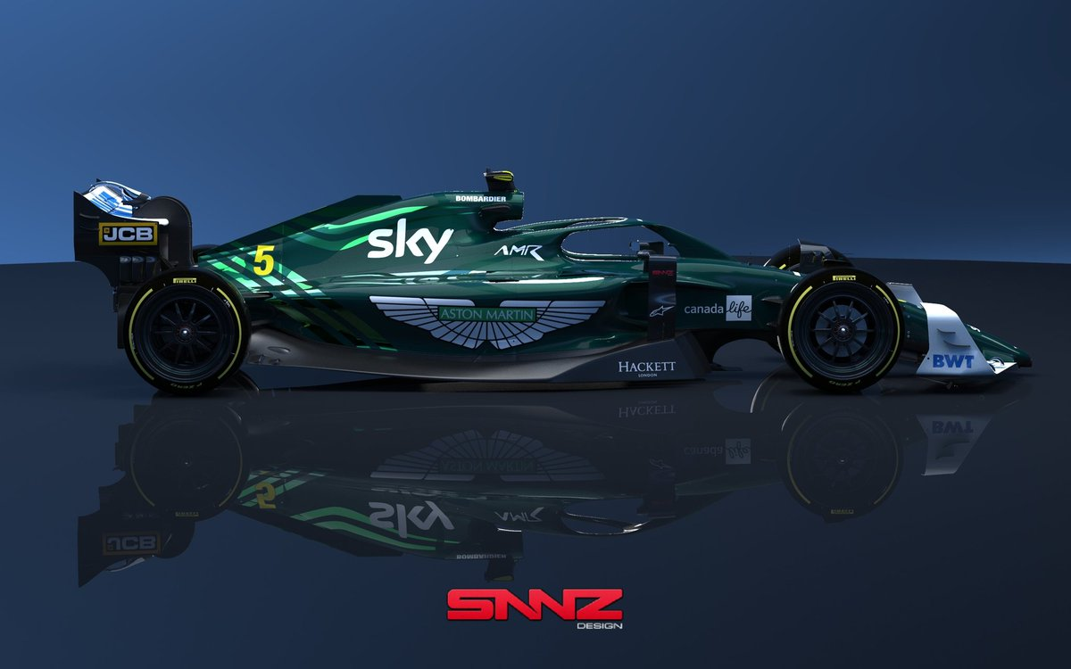 Some renders of this concept. #astonmartin #formula1 #f12022 #livery #design #liverydesign https://t.co/StZrO39cUX