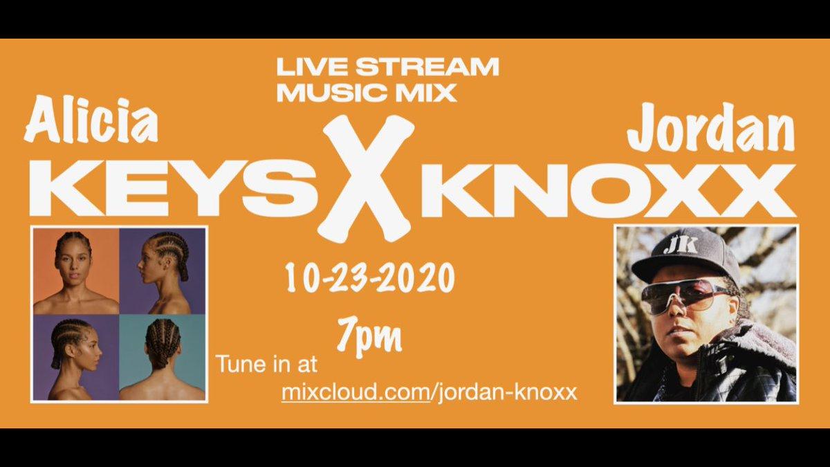 It's almost time ...... tomorrow!!!!! #newmusic #aliciakeys #akfam #alicia @teamjordanknoxx #jordanknoxx #djlife https://t.co/gnpW5HnjNb