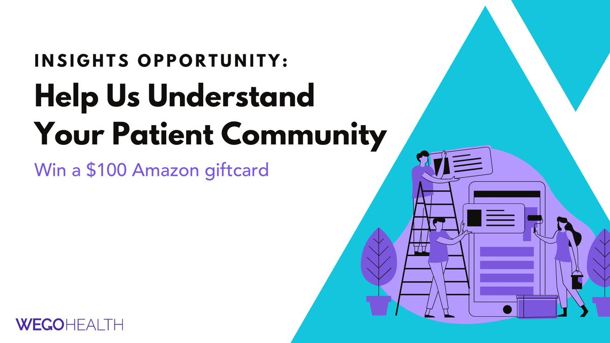 WEGO Health is conducting our Quarterly Landscape Survey, which will help guide us on future projects, opportunities & resources for the #PatientLeader Network.🌡   Complete the survey for a chance to win one of three $100 Amazon gift cards: https://t.co/2wuJDmWet8 https://t.co/FDEETKESd7